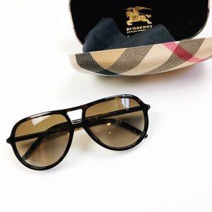 Burberry Tortoise Shell Aviator Sunglasses Unisex